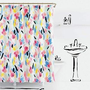 Kate Spade Paintball Floral Shower Curtain